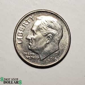 Front (heads side) of a dime