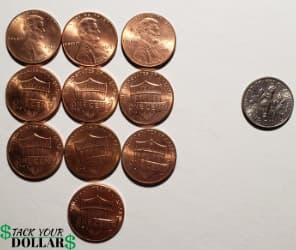 one dime in cents
