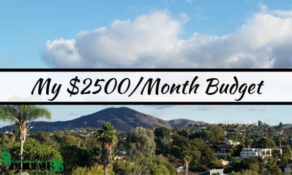 2500 a month budget