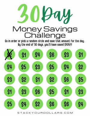 30 Day Money Saving Challenge