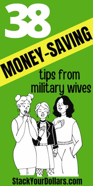 Saving Money In The Military Tips By Military Wives - Pin