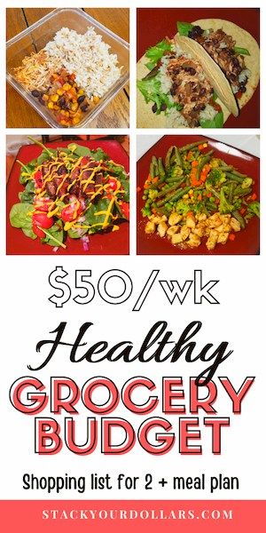 Image of healthy grocery budget pin