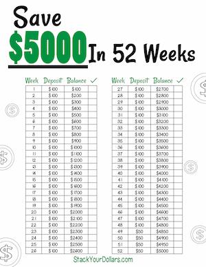 Free Printable Monthly Savings Tracker