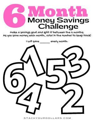 6 Month Savings Challenge