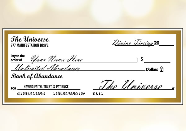 Abundance check sample with gold border