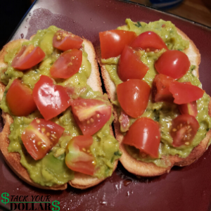 Image of Avocado toast and tomatoes