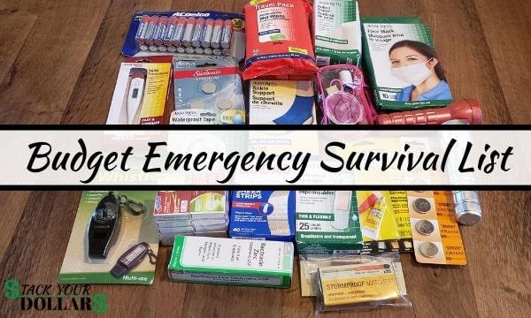 Image of Budget Emergency Survival List
