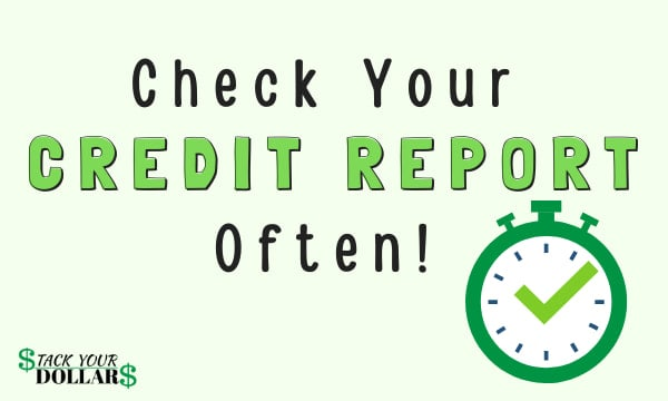 Image to check credit report often