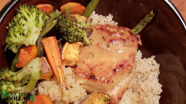 Healthy chicken stir fry with vegetables