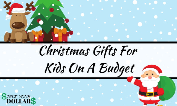 Christmas gifts for kids on a budget with Santa and Rudolph
