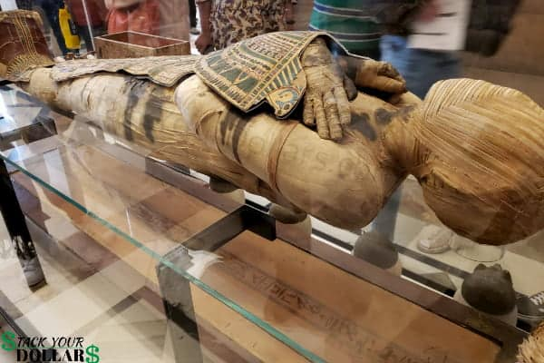 Image of a mummy at the Louvre in Paris, France