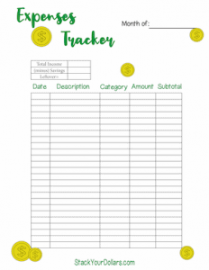 Free Downloadable Expense Tracker