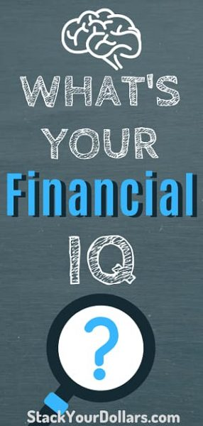 Pin: What's your financial IQ? Financial Literacy Test