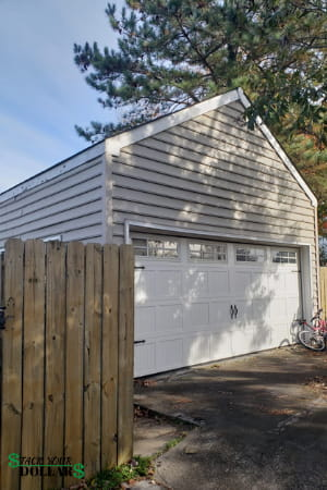 Garage Door and Fence