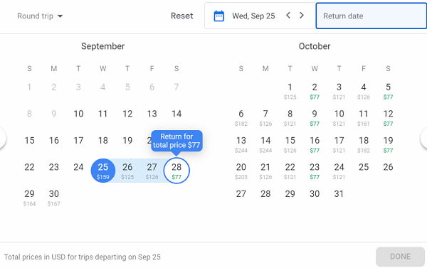 Image of how to get cheap flights on google flights