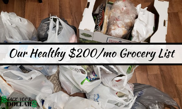 Image of $200/month groceries