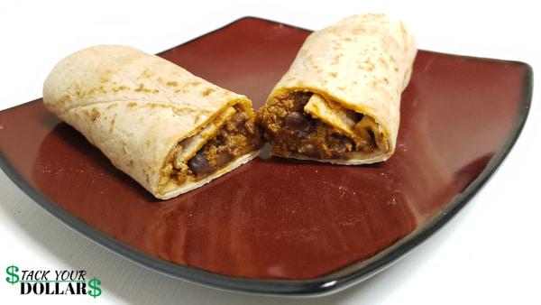 Cheap homemade burrito