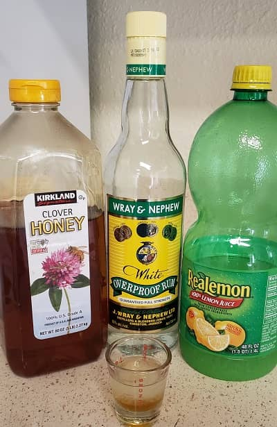Jamaican cold remedy with rum