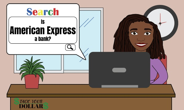 Image of search on if american express is a bank