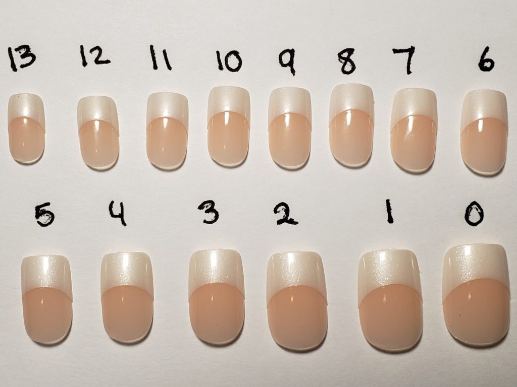 Nail Sizes In Acrylic Nails Kit