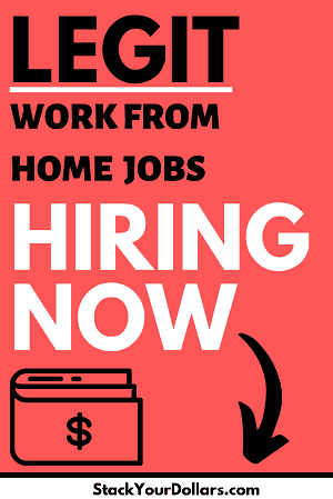 Top Legitimate Work From Home Jobs Hiring Now Pin