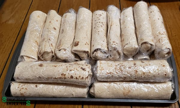 Image of cheap homemade burritos