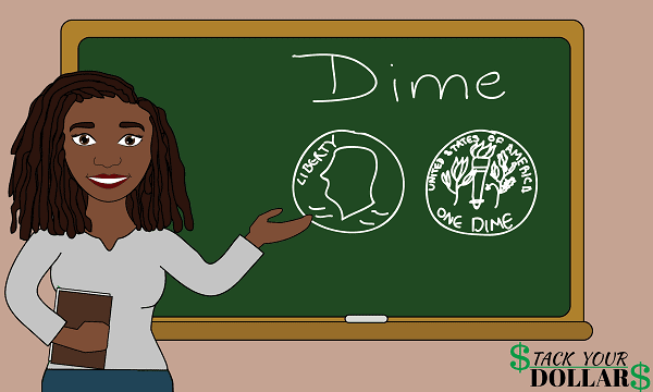 One Dime On Lesson Board
