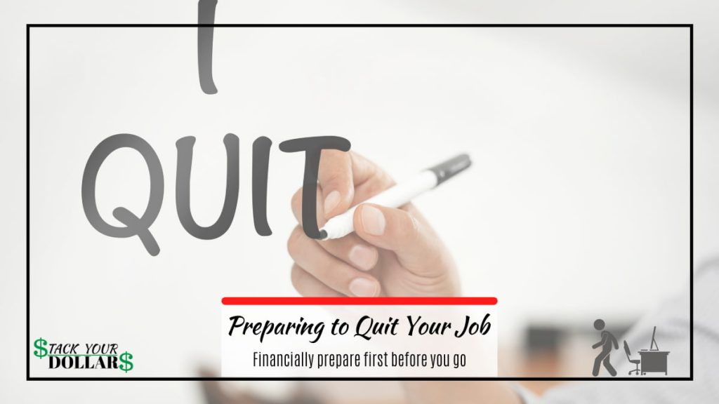 """Hand writing """"I Quit"""". Title: Preparing to quit your job"""