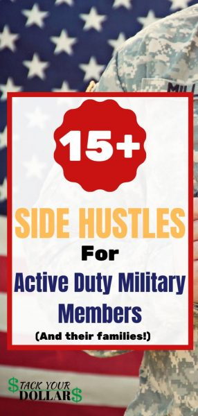 Image of 15+ side hustles for active duty military members