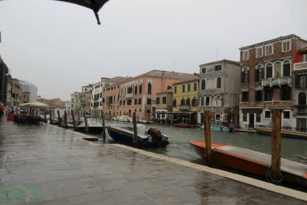 Image of Venice in rain