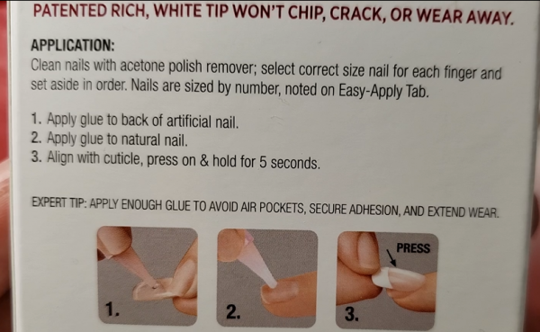 KISS Acrylic Nails Kit Instructions