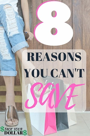 8 Reasons Why It's Hard to Save Money Pin